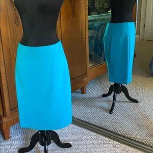 Ocean Teal Pencil Skirt by LOFT Sz 2
